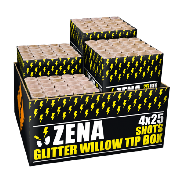 Glitter willow tip box