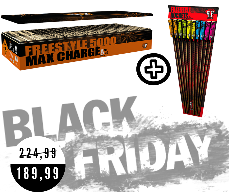 Freestyle max charge 5000 met freestyle rockets